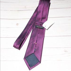 NWT Nautica Purple Pattern Tie